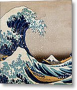 Under The Great Wave Off Kanagawa Metal Print