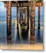 Under The Gulf Shores Pier Metal Print by JC Findley