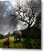 Under The Old Oak Tree - 5d21097 - Square Metal Print