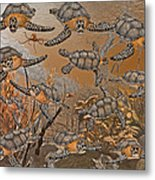 Under The Red Sea II Metal Print