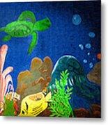 Under The Sea Mural 2 Metal Print