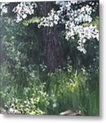 Under The Shade Of The Almond Blossom Metal Print
