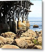 Under The Steinbeck Plaza Overlooking Monterey Bay On Monterey Cannery Row California 5d25050 Metal Print