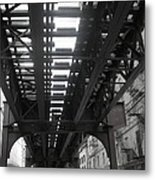 Under The Tracks Metal Print