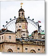 Under The Watchful Eye At Horse Guards Metal Print