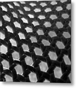 Under This Old Hat Bw Metal Print
