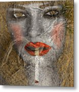 Under World Girl Metal Print
