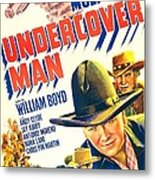Undercover Man, Us Poster, Bottom Metal Print