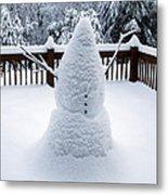 Undercover Snowman Metal Print