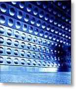 Underground Train Dynamic Motion Metal Print