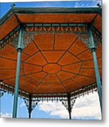 Underneath A French Gazebo Metal Print