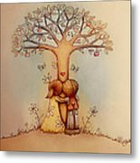 Underneath The Apple Tree Metal Print