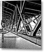 Underside Of The Burnside Bridge Metal Print