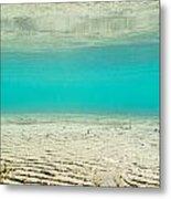 Underwater Sand Beach Metal Print