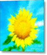 Underwater Sunflower Metal Print by Lorraine Heath