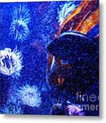 Underwater Swarm Metal Print