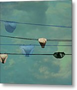 Underwear On A Washing Line  Metal Print by Jasna Buncic