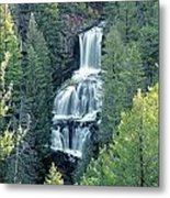 109008-undine Falls In Yellowstone Metal Print