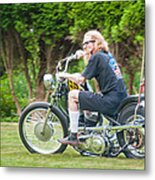 Uneasy Rider Metal Print