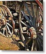 Unequal Wheels Metal Print