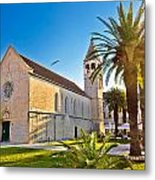Unesco Town Of Trogir Church View Metal Print
