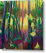 Unexpected Path - Through The Woods Metal Print