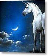 Unicorn Pegasu Metal Print
