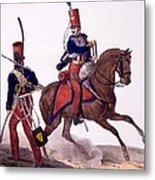 Uniforms Of The 5th Hussars Regiment Metal Print