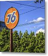 Union 76 In Asheville Metal Print