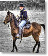 Union Horse Officer Metal Print