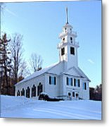 Union Meeting House In West Newbury Vermont Metal Print