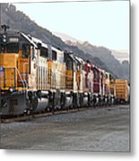 Union Pacific Locomotive Trains . 7d10563 Metal Print