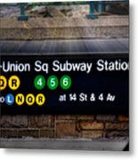 Union Square Subway Station Metal Print by Susan Candelario