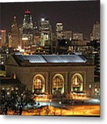 Union Station At Night Metal Print