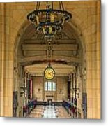Union Station Chandelier Metal Print
