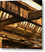 Union Station Roof Beams Metal Print