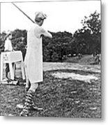 Union Suit Golfer Metal Print