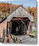 Union Village Covered Bridge Thetford Vermont Metal Print