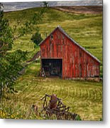 Unique Barn In The Palouse Metal Print