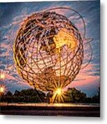 Unisphere At Sunset Metal Print