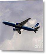 United Airlines Boeing 767 Metal Print