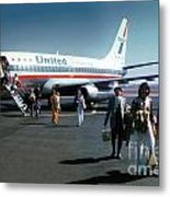 United Airlines Ual Boeing 737-222 N9069u April 1974 Metal Print