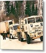 United Nations Convoy In Bosnia Metal Print