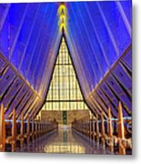 United States Airforce Academy Chapel Interior Metal Print