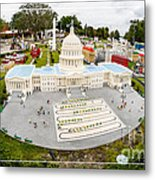 United States Capital Building At Legoland Metal Print
