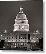 United States Capitol At Night Metal Print