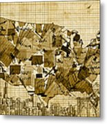 United States Map Collage 4 Metal Print