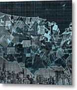 United States Map Collage 5 Metal Print