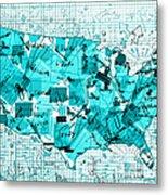 United States Map Collage 8 Metal Print