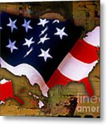 United States Map  Metal Print by Marvin Blaine